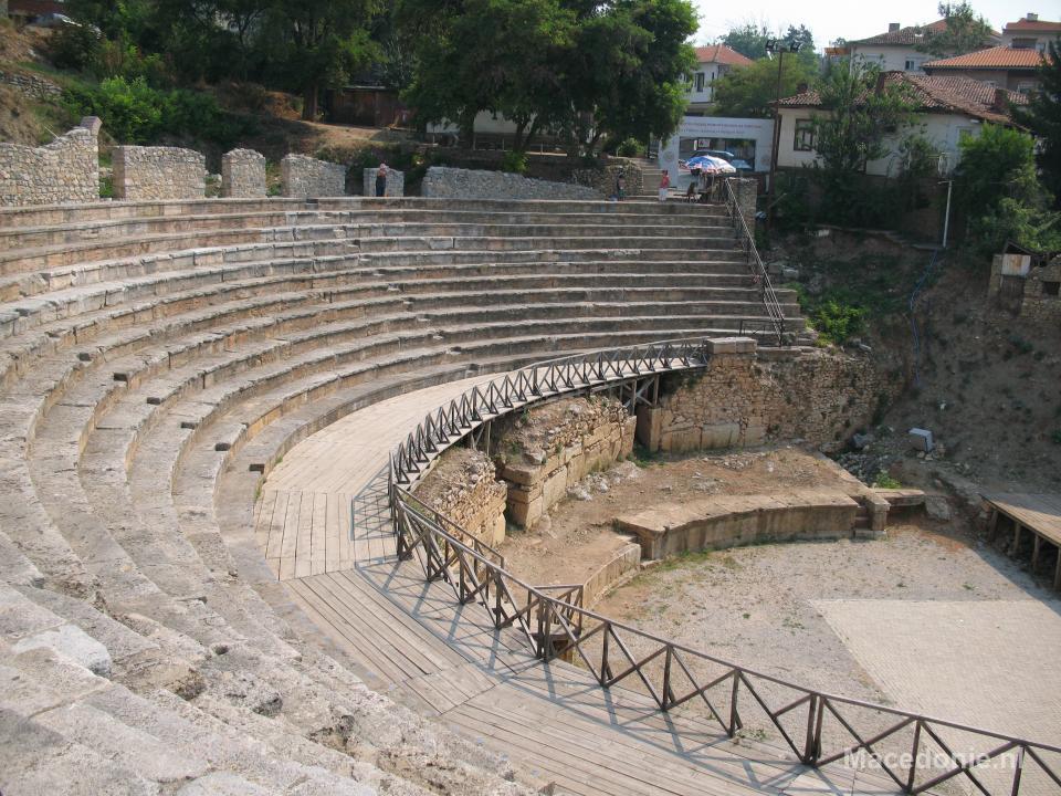 Amfitheater gezien vanaf het publiek