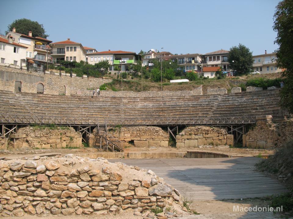 Amfitheater vanaf het toneel
