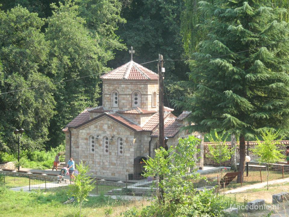 Kerkje van veraf Ohrid