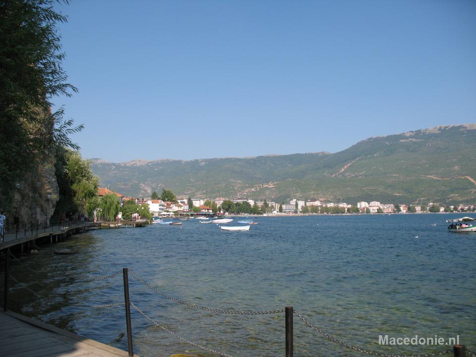 Panorama uitzicht van meer