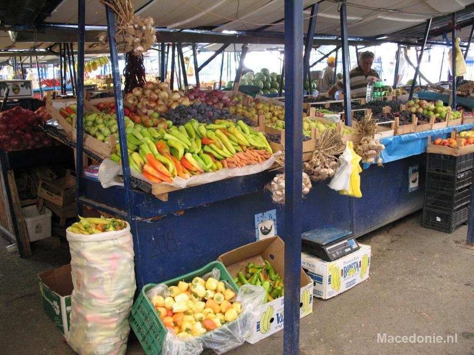 Pepers op de markt